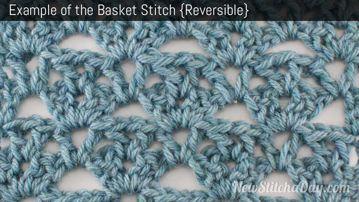 Example of the Basket Stitch. (Reversible)