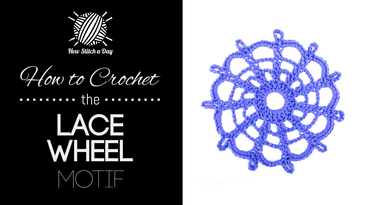 How to Crochet the Lace Wheel Motif.