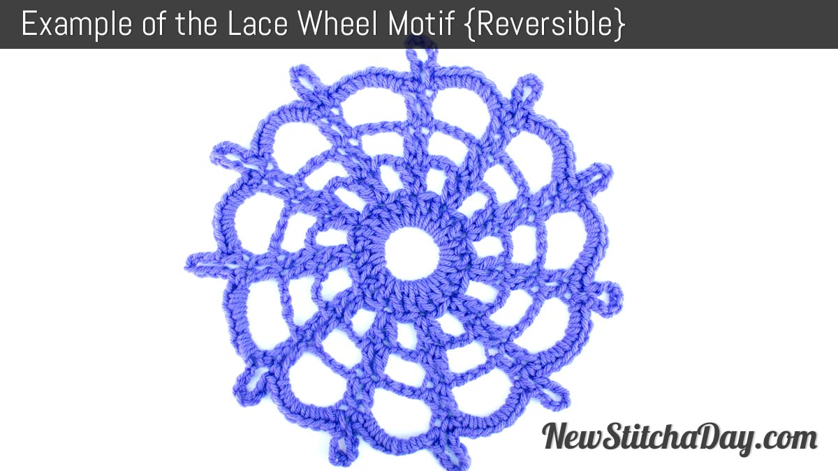 Example of the Lace Wheel Motif. (Reversible)