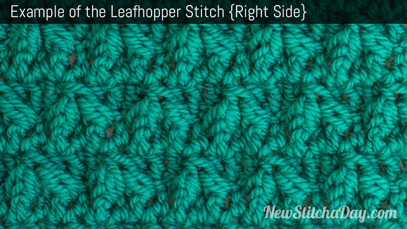 Example of the Leafhopper Stitch. (Right Side)