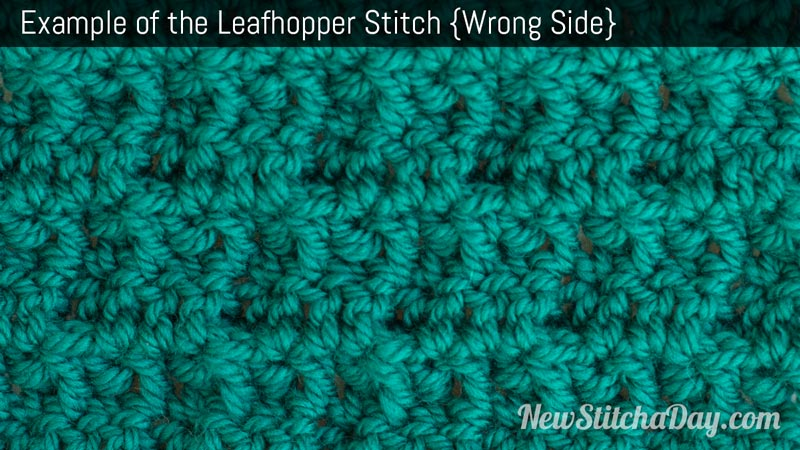 Example of the Leafhopper Stitch. (Wrong Side)