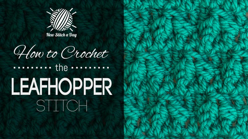 How to Crochet the Leafhopper Stitch