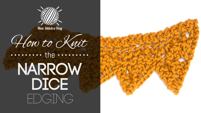 How to Knit the Narrow Dice Edging