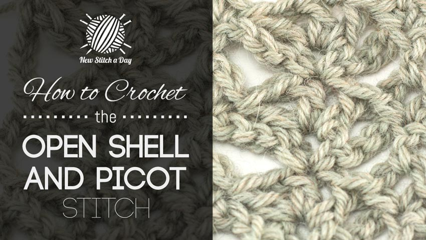 Crochet Stitch Open : you learn how to crochet the open shell and picot stitch. This stitch ...
