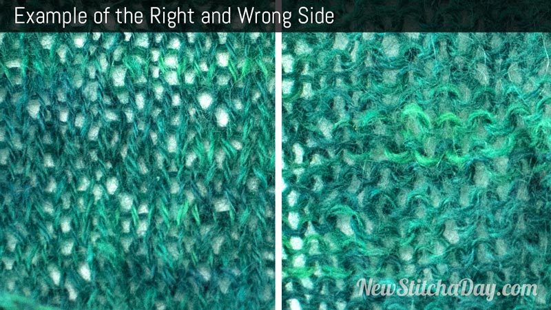Crocheting Right Side And Wrong Side : Example of the Right and Wrong Side. (Click for Larger Image)