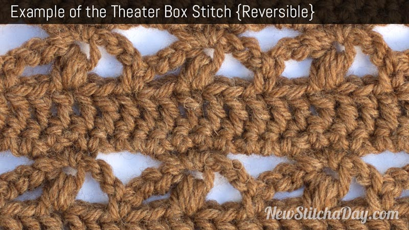 Example of the Theater Box Stitch. (Reversible)