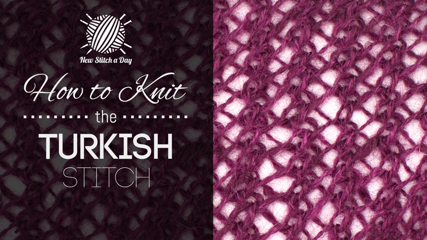 How to Knit the Turkish Stitch