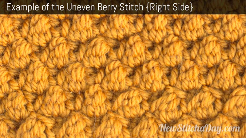 Crochet Stitches Right Side : ... Crochet the Uneven Berry Stitch :: Crochet Stitch #244 NEW STITCH A