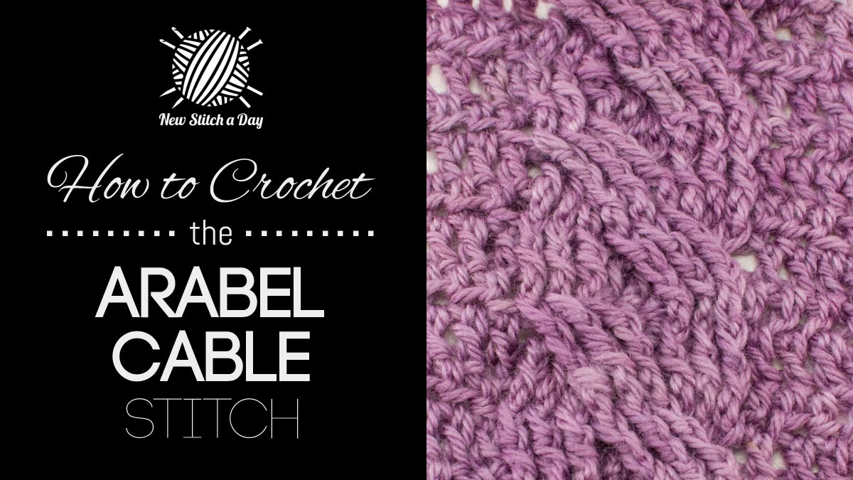 How to Croche the Arabel Cable Stitch