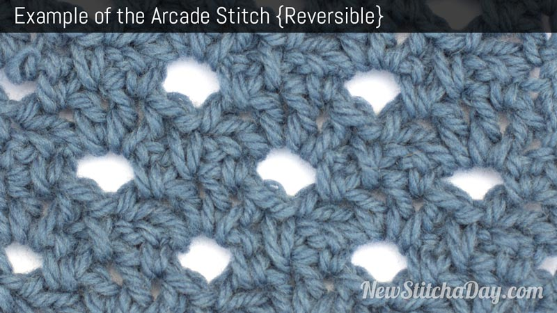 Example of the Arcade Stitch. (Reversible)
