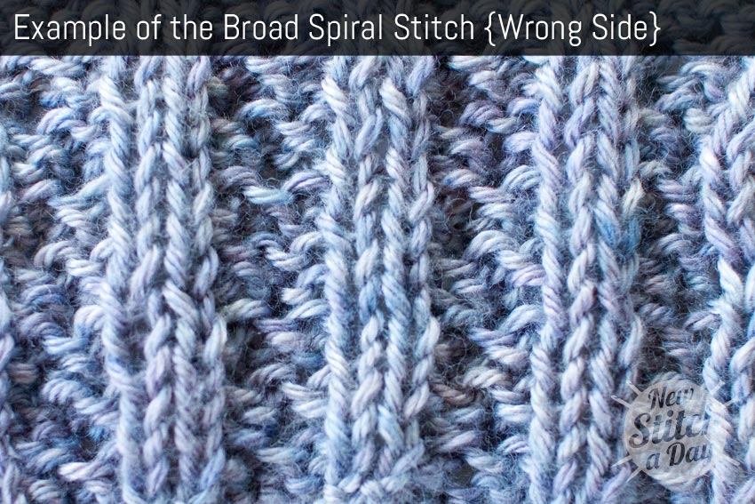 Example of the Broad Spiral Rib Stitch. (Wrong Side)