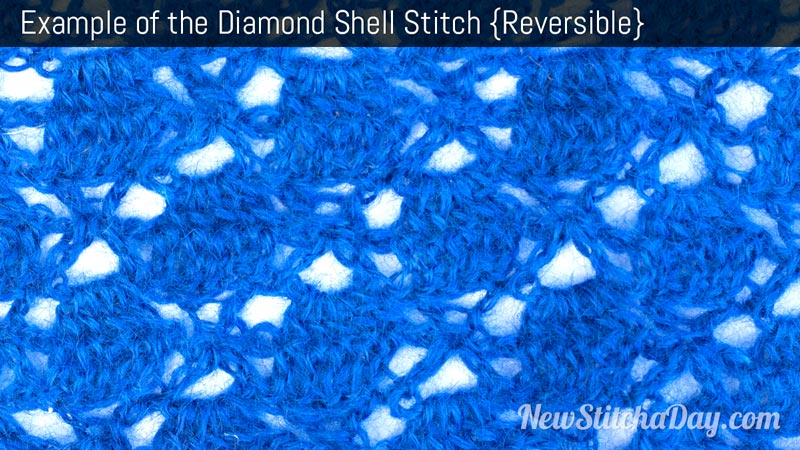 Example of the Diamond Shell Stitch. (Reversible)