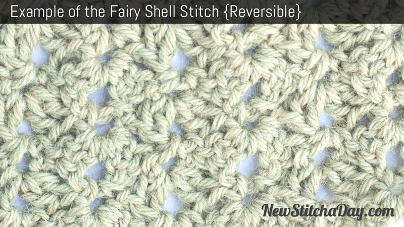 Example of the Fairy Shell Stitch. (Reversible)