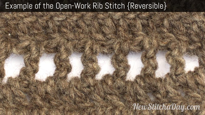 Example of the Openwork Rib Stitch. (Reversible)