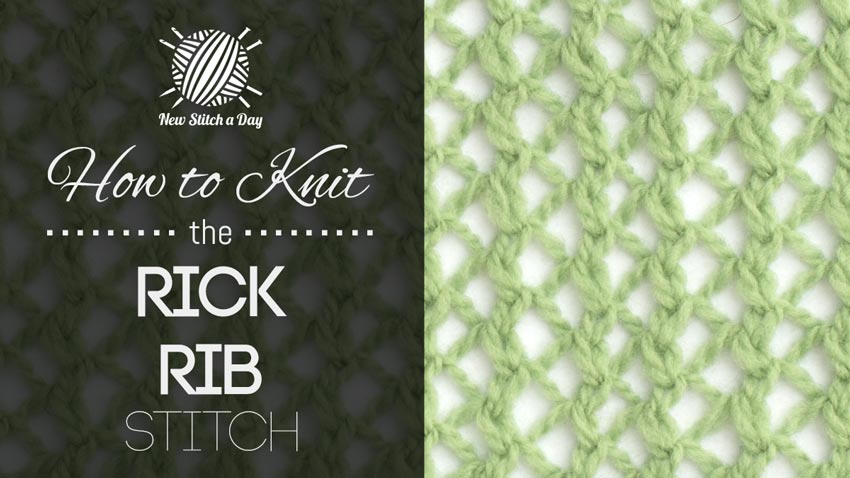 How to Knit the Rick Rib Stitch