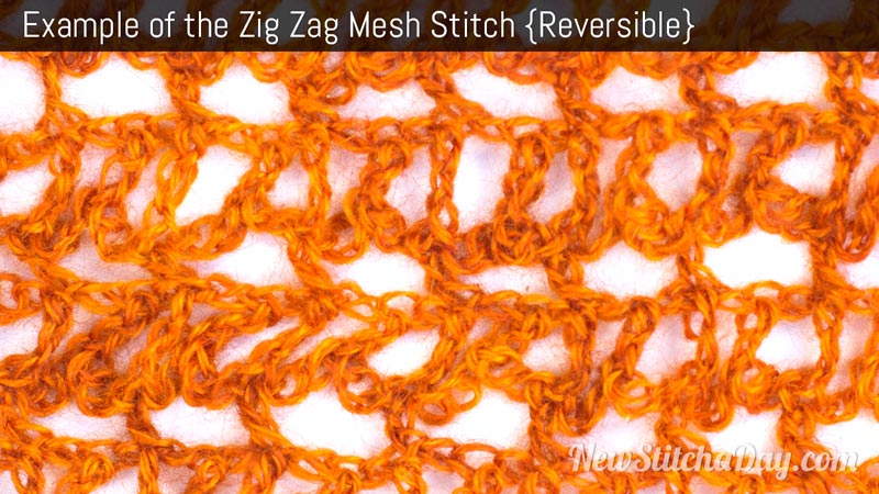 Example of the Zig Zag Mesh Stitch. (Reversible)