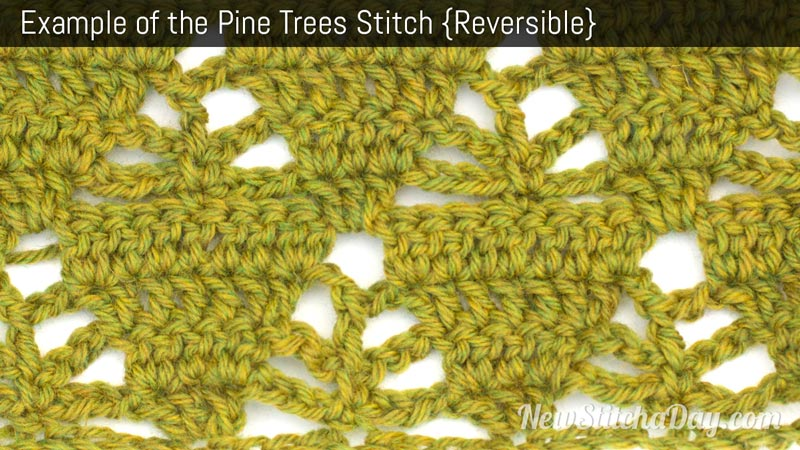 Example of the Pine Trees Stitch. (Reversible)