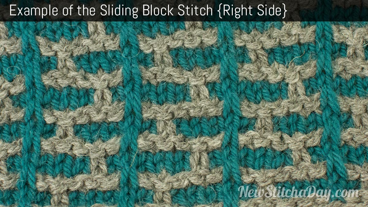 Example of the Sliding Block Stitch. (Right Side)