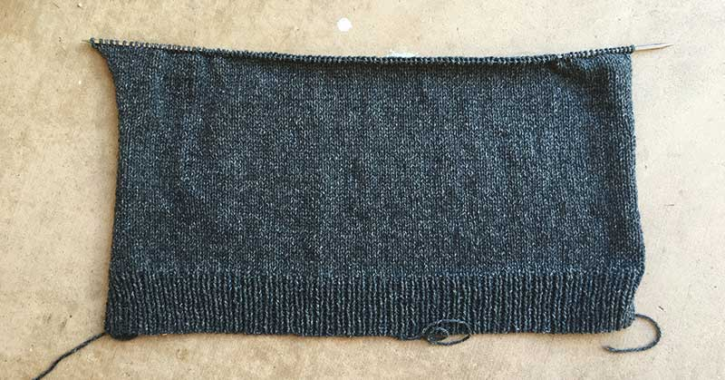 30 Day Sweater Progress Day 5