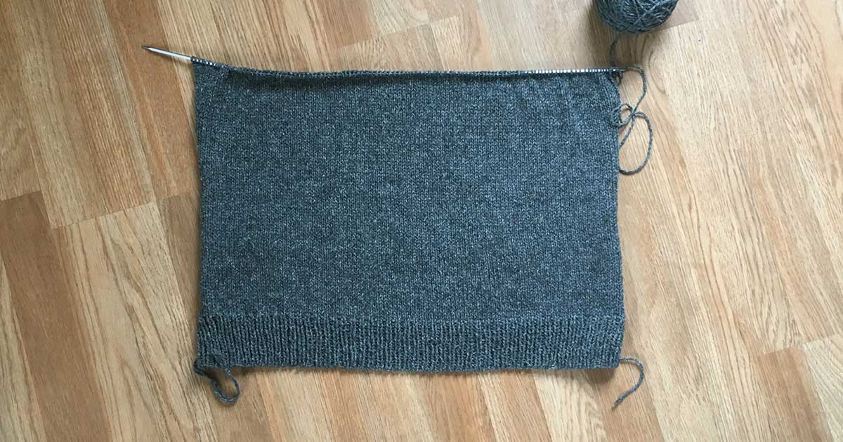 30 Day Sweater Progress Day 6