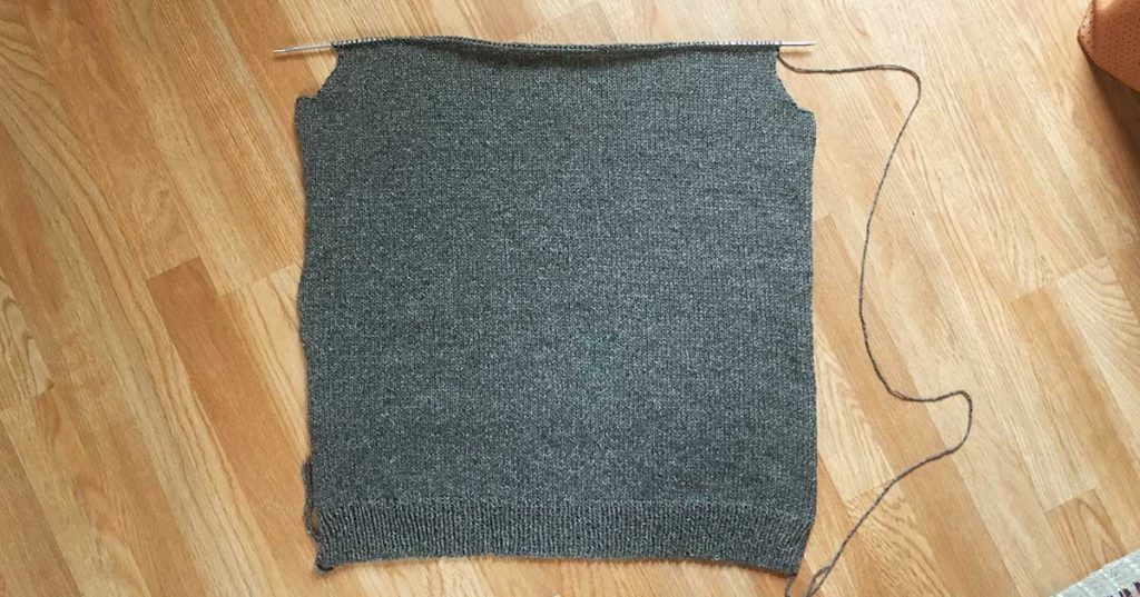 30 Day Sweater Day 8 Progress