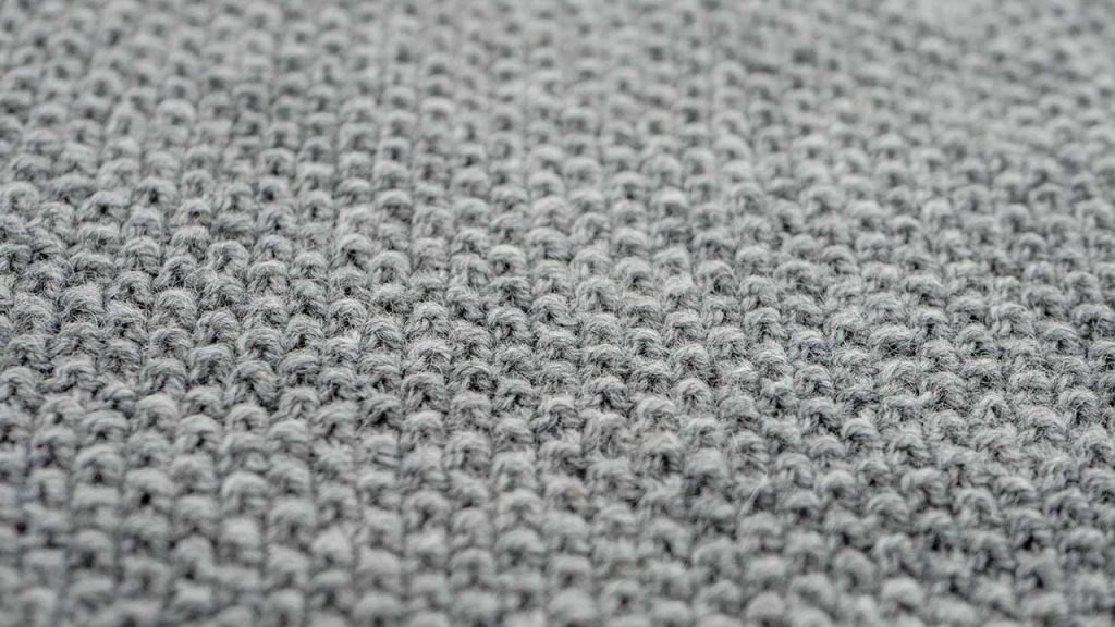 Detail of Seed Stitch Knitting Pattern