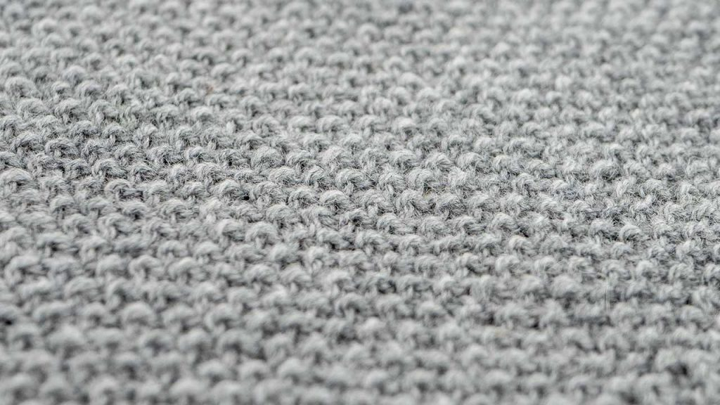 Close Up of Seed Stitch Knitting Pattern
