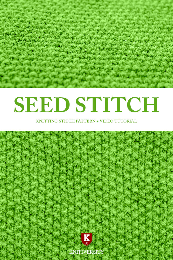 Seed Stitch Knitting Pattern Tutorial