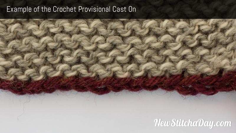 Example of the Crochet Provisional Cast On