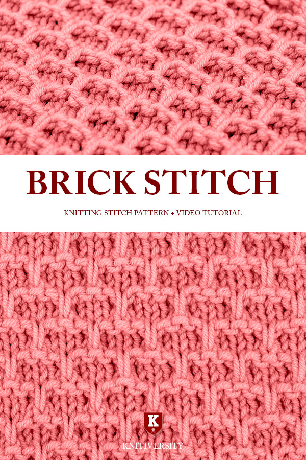 Brick Stitch Knitting Pattern Tutorial