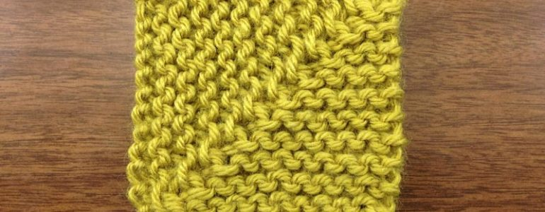 Example of a knitted mitered square