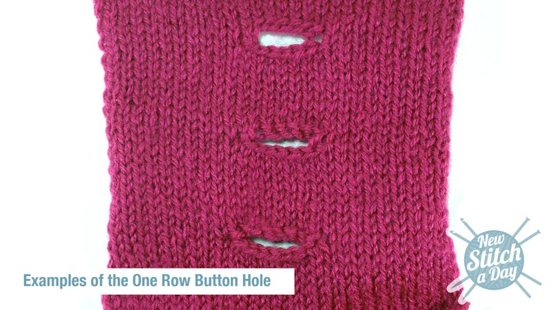 Example of How to Knit the One Row Button Hole