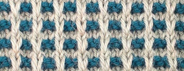 Simple Grille Knitting Stitch Pattern Cover
