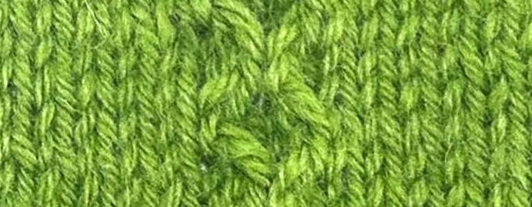 Little Pearl Cable Knitting Stitch Pattern Example