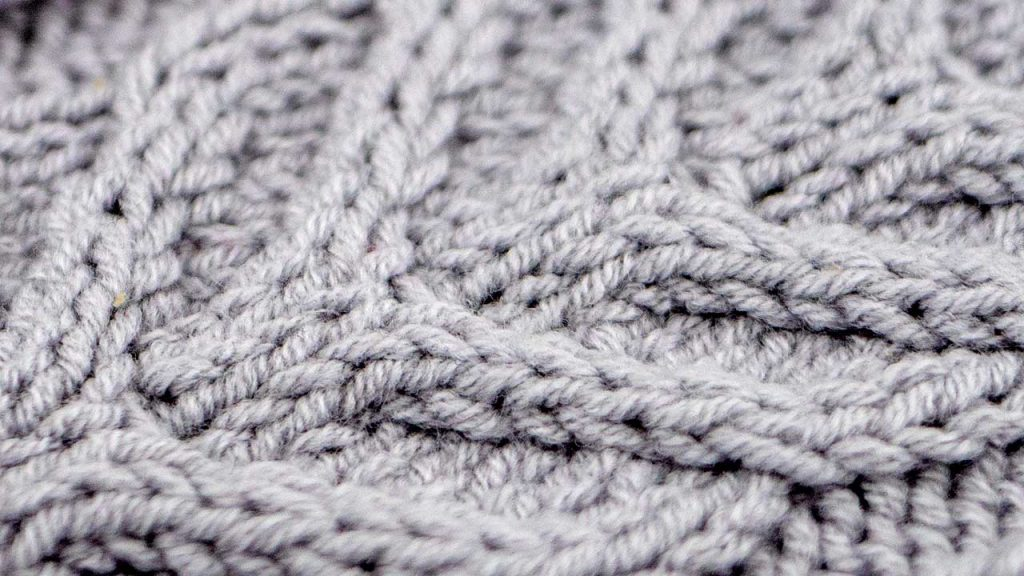 Example of the Large Horn Cable Stitch Knitting Pattern