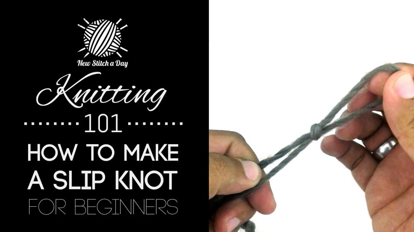 Knitting How To Cast On For Beginners : Knitting how to make a slip knot for beginners