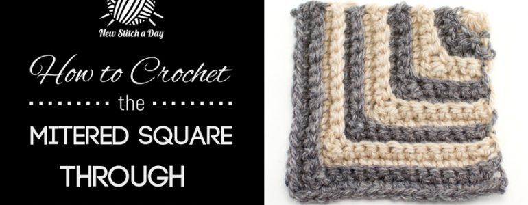 How to Crochet the Mitered Square Through the Back Loop