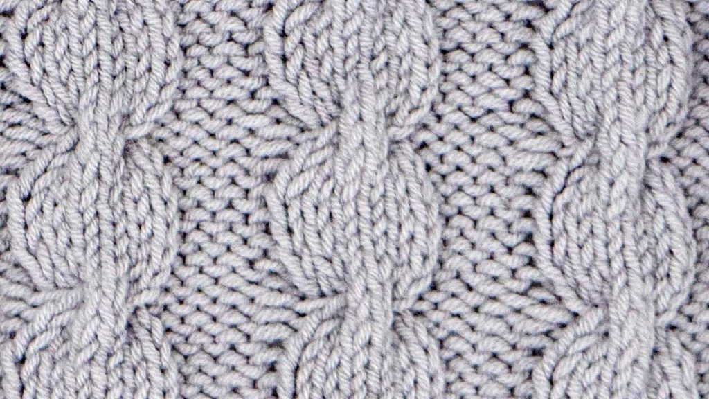Bulbus Cable Stitch Knitting Pattern (Right Side)