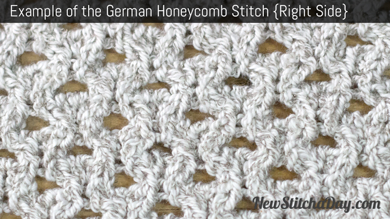 Example of the German Honeycomb Stitch. (Right Side)