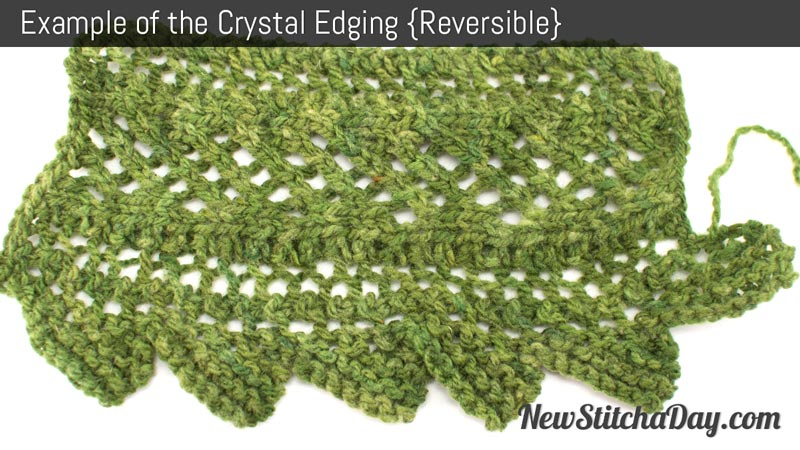 Example of the Crystal Edging Stitch. (Reversible)