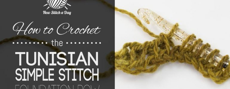 How to Crochet the Tunisian Simple Stitch Foundation Row