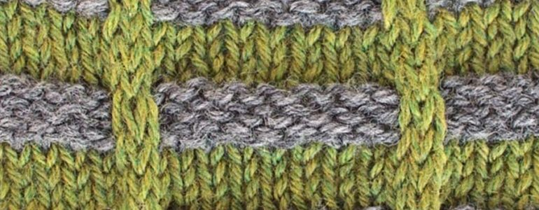 Ladder Lattice Colorwork Knitting Stitch Pattern