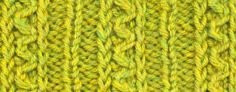 Example of the Floating Snake Cable Stitch
