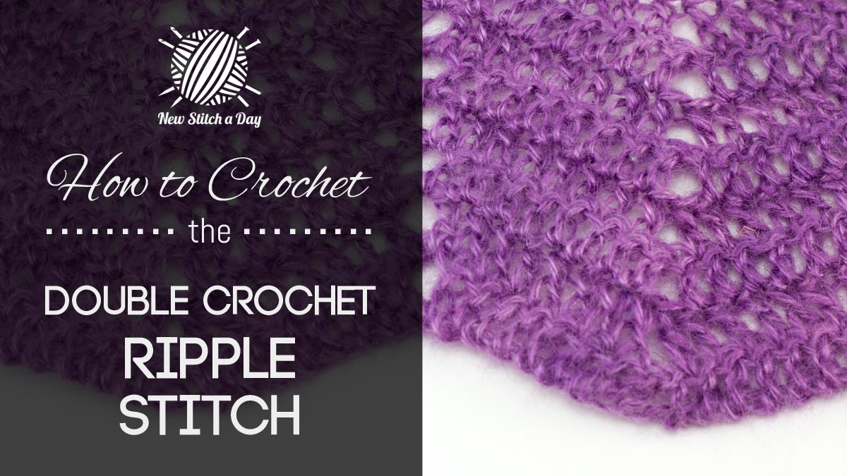 The Classic Double Crochet Ripple Stitch Crochet Stitch 226