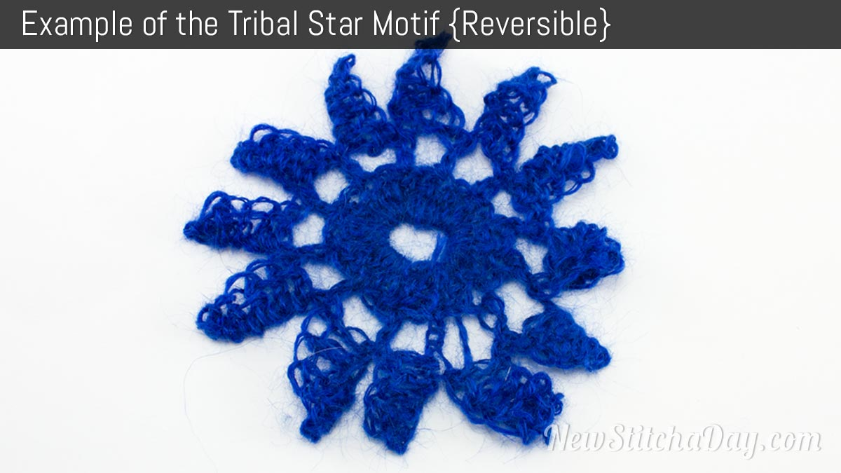 Example of the Tribal Star Motif. (Reversible)