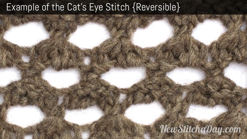 Example of the Cats Eye Stitch. (Reversible)
