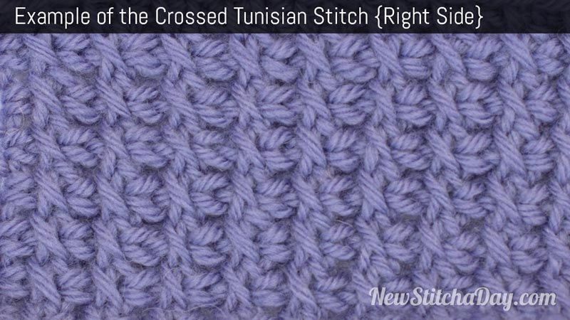 Crochet Stitches Right Side : ... Crochet the Crossed Tunisian Stitch :: Tunisian Crochet Stitch #9
