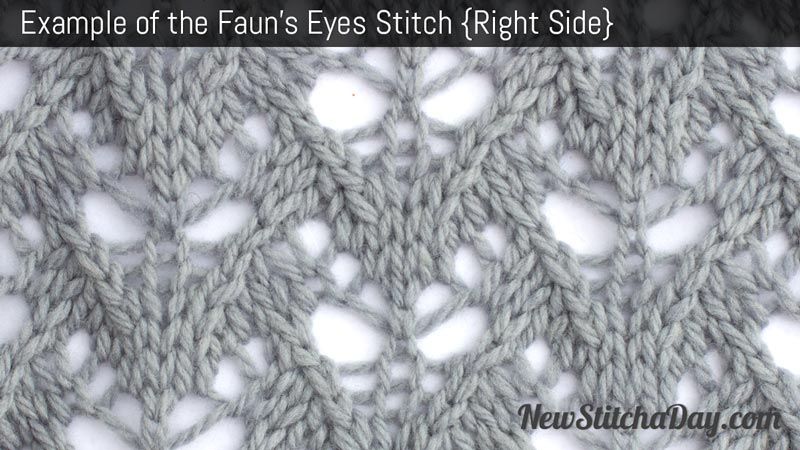 Example of the Fauns Eyes Stitch. (Right Side)