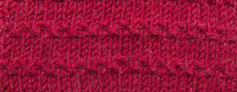 Roman Stripe Stitch Pattern (Right Side)