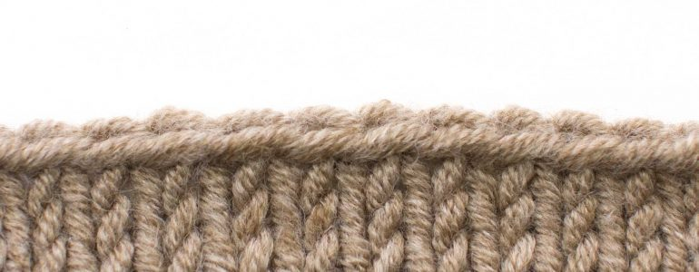 Example of the Russian Bind Off